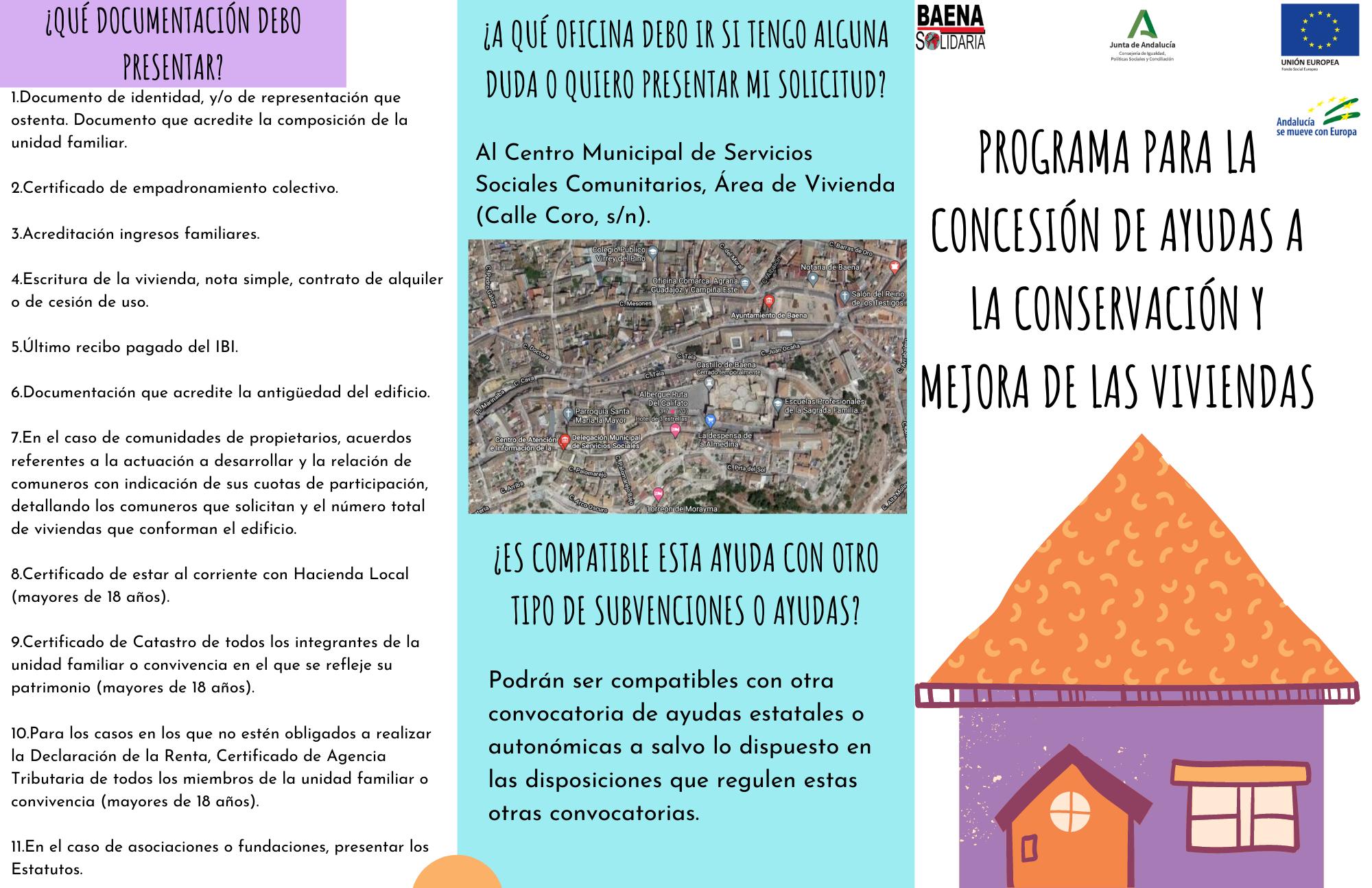 programa para la concesión de ayudas a la conservación y mejora de viviendas.